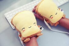 Smoko Chibi Fun Happy Toast USB Handwarmer Heater Butter Smile Computer Laptop