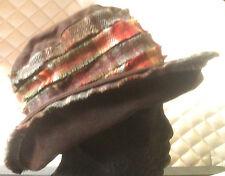 Olney Lizzie brown tweed & cire femmes pays chapeau