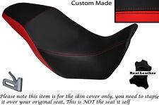 BLACK & BRIGHT RED CUSTOM FITS HONDA CB 500 X 13-14 DUAL LEATHER SEAT COVER