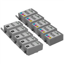 Compatible 10 pack Canon (5) BCI-15 Black (5) BCI-16 color Ink Cartridges