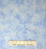 Christmas Fabric - Holiday Accents Ice Blue Snowflake Toss - RJR YARD