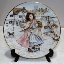 """Royal Worcester NSPCC Noël Plate 1988 """"A Christmas Wish"""""""" Mary Carter"""""""