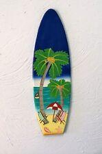 "OUTDOOR COLORFUL 18"" HAITIAN SURFBOARD BEACH SCENE HANGING WALL ART DECOR"