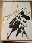 Vintage Paul Jenkins Original Unframed Lithograph Signed And Numbered 20/50 1960