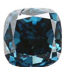 Natural Loose Diamonds Cushion Blue 0.22 Ct 3.10X3.10X2.50 SI1 Clarity L2820