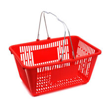 Plastic Shopping Basket in Red 18.75 W x 12.50 D x 9.75 H Inches