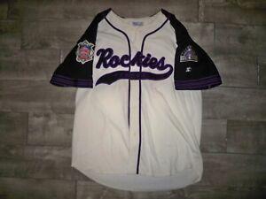 Vintage 1990s Colorado Rockies Throwback Baseball MLB Starter Jersey Size XLarge