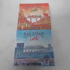 CMON Railroad Ink: Blazing Red Edition & Deep Blue Edition