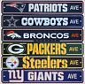 "NFL Street Sign (Choose Your Favorite Team ) 4"" x 24"" Football Logo All Teams"