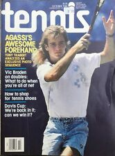 'Tennis' U.S Magazine - October 1988 - Andre Agassi - Tony Trabert - Vic Braden