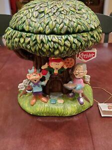 Keebler Millennium Hollow Tree Elf Cookie Jar 2000 RARE Elves