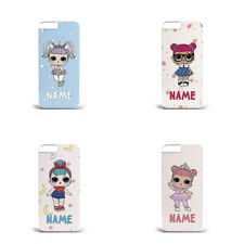 Personalised name initials gift for kids LoL Dolls hard phone case