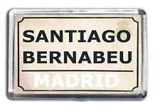 Real Madrid Football Fridge Magnet Print Stadium Street Sign Santiago Bernabeu