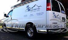 1998-2008 Chevy Express/GMC Savana 3Dr Full Van Chrome Rocker Panel Trim-7Pc