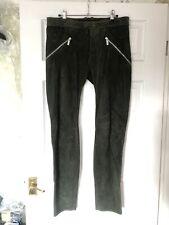 "Dirk Bikkembergs Cout Lamb Leather Biker Trousers Jeans Sz 48 UK 33"" €759"