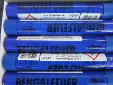 Bengalfeuer/Nicofeuérwerk/ Bengalos in Blau/ 5 Stück/ OVP/ Schnäppchen