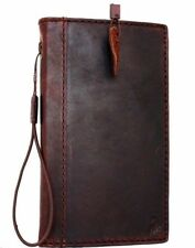 genuine leather Case for Samsung Galaxy Note 3 book wallet handmade cover brown