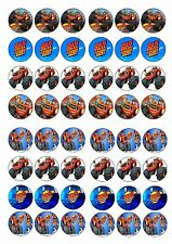 BLAZE AND THE MONSTER MACHINE EDIBLE RICE WAFER PAPER CUP CAKE TOPPER X48