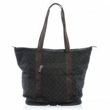 New Authentic GUCCI Signature Travel GG Logo Collapsible Bag Tote Shopper -Brown
