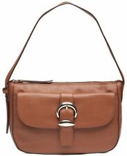 DKNY Bessie Hobo Brown Walnut Leather Small Bag Purse  MSRP $248