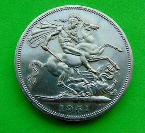 SUPERB  FESTIVAL  of  BRITAIN  PROOF  *1951*  CROWN  5/-...LUCIDO_8  COINS