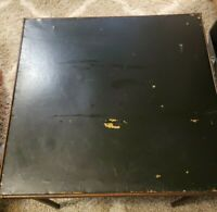 Antique Folding Card Table Wooden legs and trim