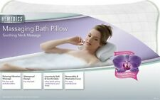 HOMEDICS Vibration Massaging Bath Pillow Neck Massager Battery Operated ShipFree