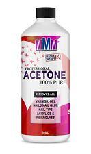 100% Pure Acetone Superior Quality Nail Polish Remover UV/LED GEL Soak Off 30ML