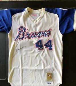 Hank Aaron Signed Certified Jersey Milwaukee Braves 44 Upper Deck Certified