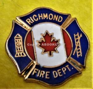 RICHMOND FIRE DEPARTMENT -RESCUE BRITISH COLUMBIA CANADA SMALL Lapel Pin Mint