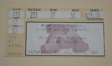 Minnesota Gophers Football Ticket Stub | October 23 1999 | Ben Hamilton