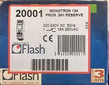 Soldes 20001 Minuteur MONOTRON 124 Prog.24h RESERVE 220-240V AC 50Hz FLASH NEUF