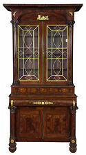 Swc-Monumental Classical Mahogany Bookcase probably Meeks, Ny, c.1830