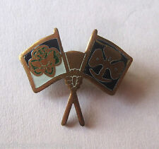 Vintage Girl Scout 1952-1956 FRIENDSHIP PIN Crossed Flags International Swaps
