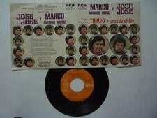 """MARCO ANTONIO MUÑIZ Y JOSE JOSE """" TIEMPO & CRUZ DE OLVIDO"""" RCA 1975 MEXICAN 7''"""