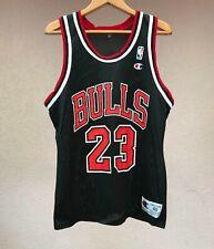 CHICAGO BULLS MICHAEL JORDAN CHAMPION SHIRT JERSEY CAMISETA USA NBA BLACK RETRO