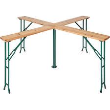 Table de brasserie pliable Quattro avec porte parasol haute de bar bois jardin