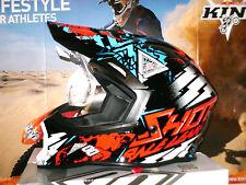 SHOT Striker BLAST Cross Helm Enduro Quad DH M Rot Blau YZ-F Yamaha Honda CR Neu