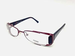 $450 Fendi Womens Red Eyeglasses Clear Lens Italy Frames FF Glasses F765 639