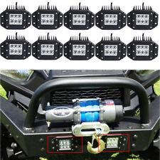 10pcs CREE Dually Flush Mount LED Light Cube Pod Pick-Up 4X4 OffRoad ATV UTV 12V