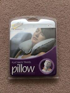 BNIB The Snoozer Grey Flat Back Travel Pillow