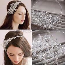 Wedding Bridal Women Crystal Rhinestone Party Headband Tiara Headpiece Hair Band