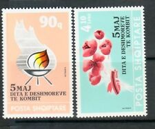 ALBANIA Sc 2406-7 NH ISSUE OF 1992 - MARTYR'S DAY