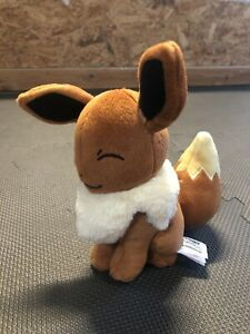 "2017 - 7"" Pokemon Plush Eevee Tomy Game Freak Figure USA Seller"