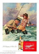 MILLER HIGH LIFE 1946 VINTAGE AD THE CHAMPAGNE OF BOTTLED  BEER FRIDGE MAGNET