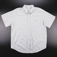 Vintage LACOSTE  Grey 00s Short Sleeve Casual Shirt Mens L