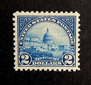 US Stamps, Scott #572 2 Dollar 1923 US Capitol 2019 PF cert GC XF/Superb 95 M/NH