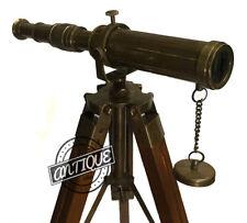 Verstellbares Dekor-Stativ-Ecktisch-Teleskop im Antik-Look Vintage-Möbel 15 Tall