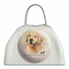 Golden Retriever Dog Breed White Metal Cowbell Cow Bell Instrument