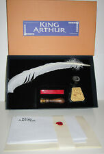 KING ARTHUR CALLIGRAPHY SET w/Feather Pen,Ink Bottle,Seal,Wax,Writing Paper